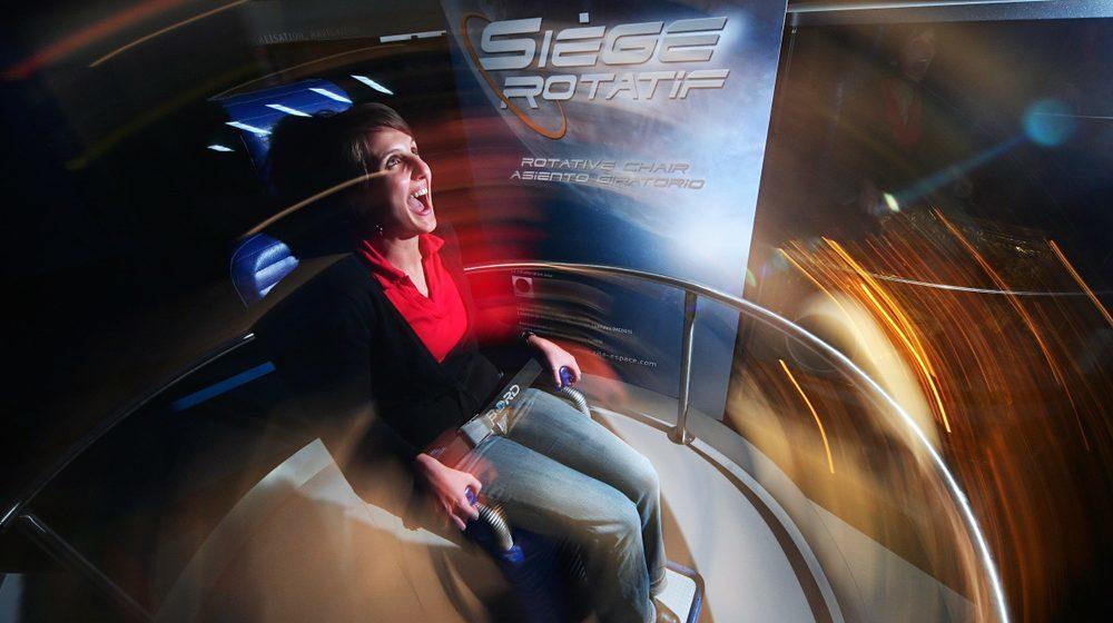 Toulouse - Cité de l'espace : Siège Rotatif