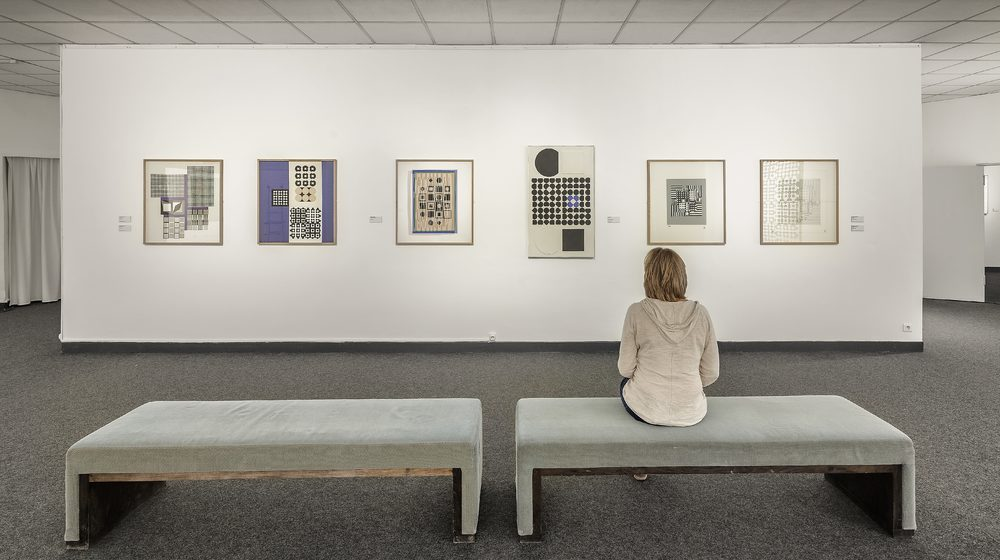 Fondation Vasarely - Salle d'exposition au 1er étage - Fondation Vasarely © Aldo Amoretti
