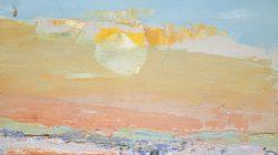 Nicolas de Staël, Ciel de Vaucluse, 1953, huile sur toile, 16 x 24 cm © Adagp, Paris, 2018, photo : © Jean Louis Losi