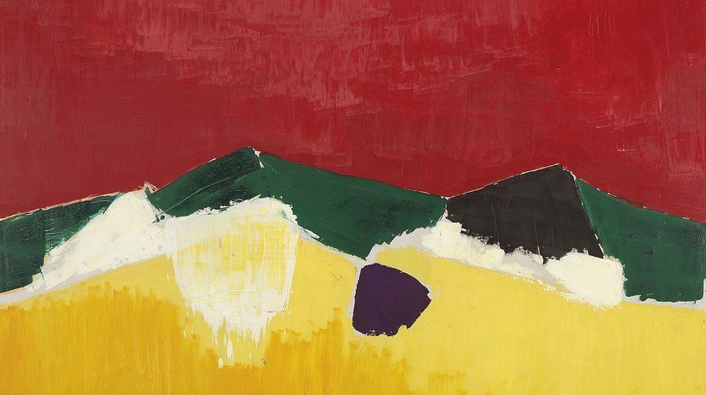 Nicolas de Staël, Paysage de Sicile, 1953, huile sur toile, 87,5 x 129,5 cm, The Fitzwilliam Museum, Cambridge © Adagp, Paris, 2018, photo : © The Fitzwilliam Musuem, Cambridge