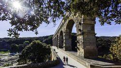 Pont du Gard rayon de soleil