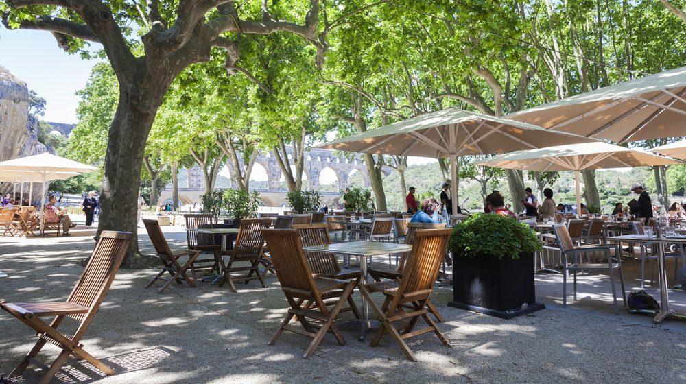 Pont du Gard, restaurant les terrasses © A Rodriguez