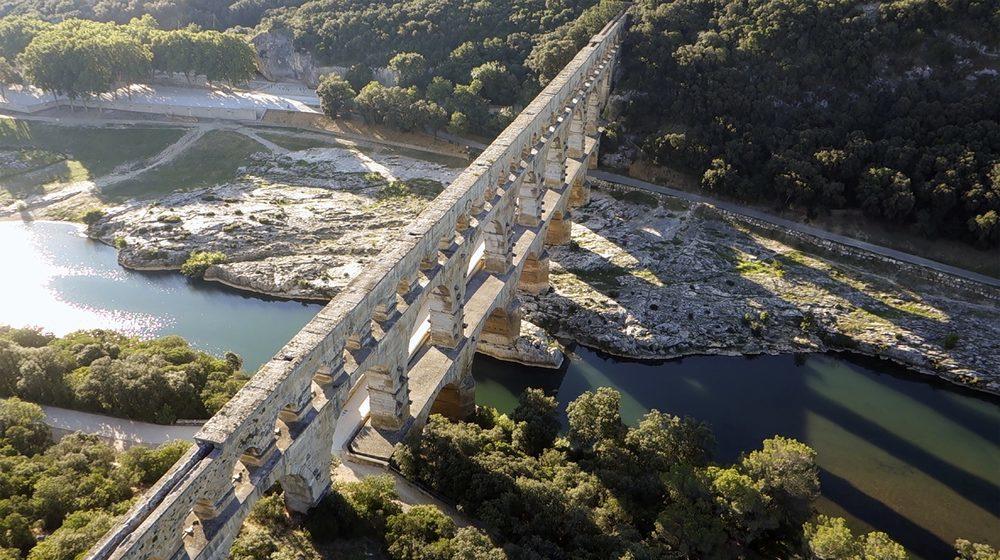 Pont du Gard vu du ciel