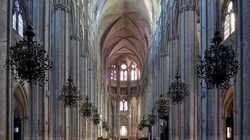 Cathédrale de Bourges, vue d'intérieur